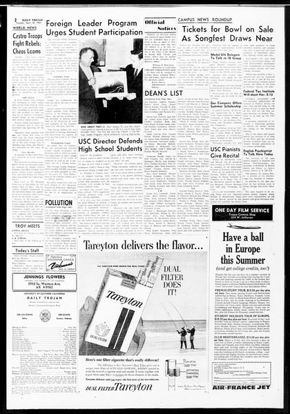 Daily Trojan, Vol. 52, No. 107, April 18, 1961