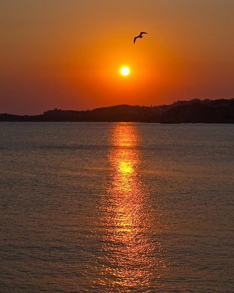 Sunset greek islands
