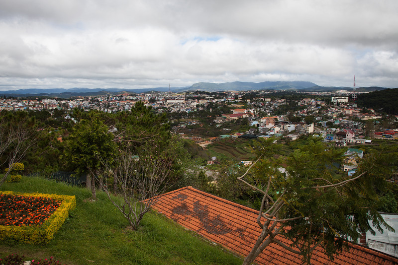 A view of Dalat from the entrance to the cable car.