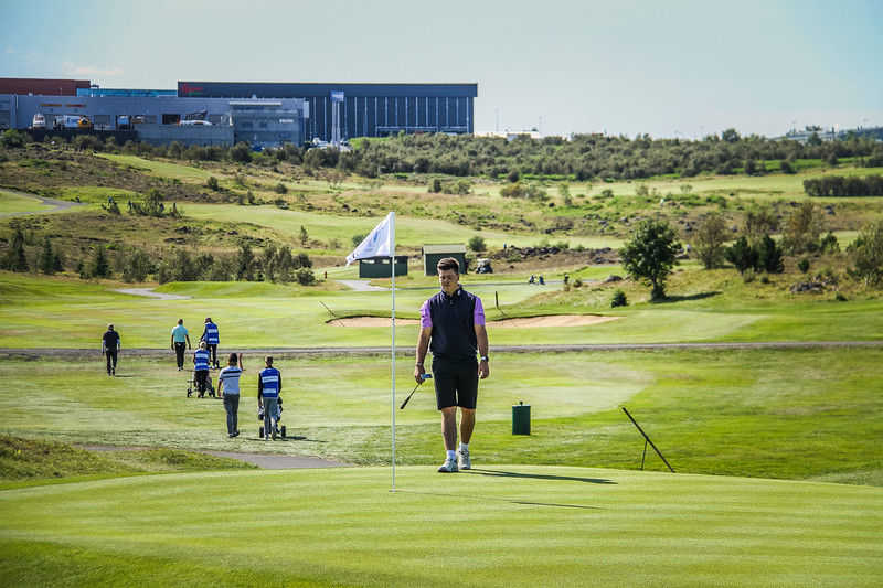 Tumi Hrafn Kúld.  Íslandsmót golf 2019 Grafarholt - 1. keppnisdagur. Mynd: seth@golf.is