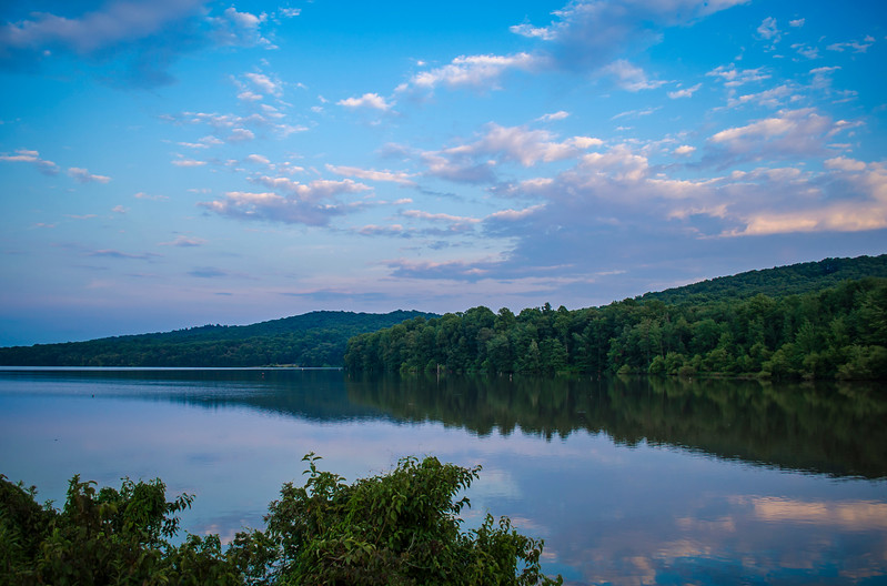Middle Creek - Sunset Clouds Reflecting on Lake(p).jpg