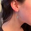 1.50ctw (est) Victorian Leaf Component Earrings 7