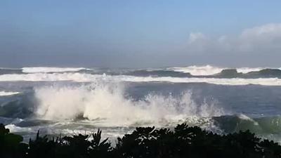 Wave hitting reef.MOV