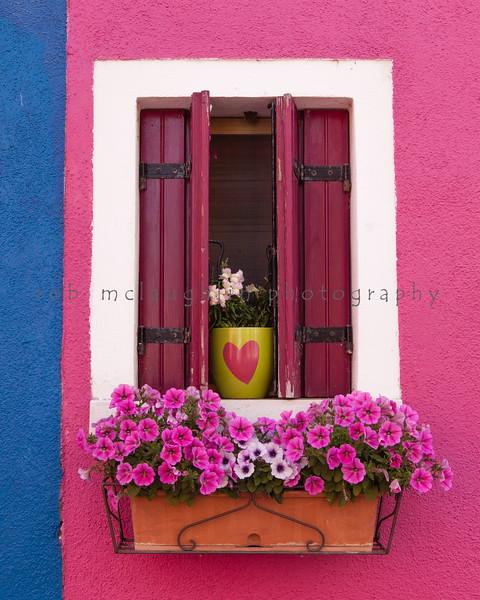 Pink Heart , Burano , Veneto