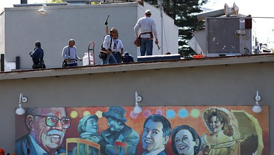 Photos: Contra Costa Civic Theatre gets a new roof — fiddler not included