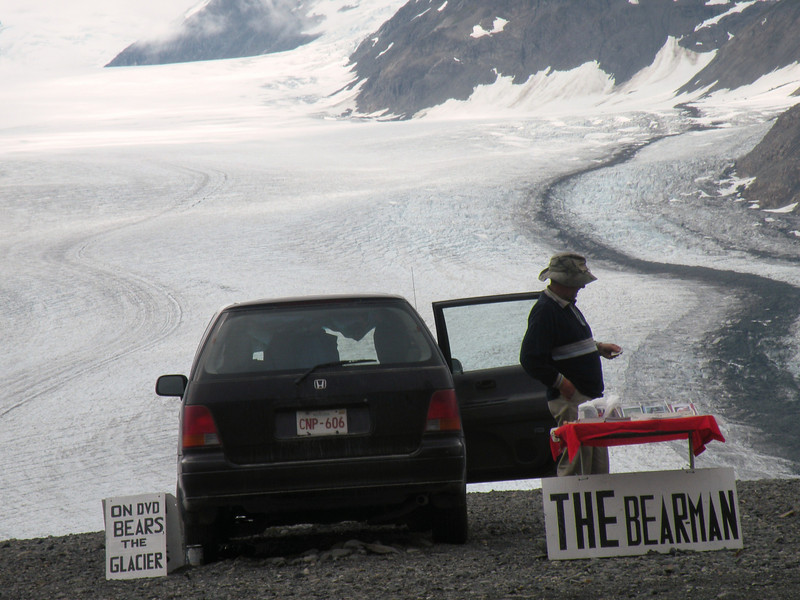 """Can't wait to visit """"The Bear man"""" at Salmon Glacier"""
