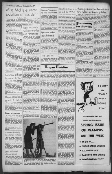 The Trojan, Vol. 35, No. 99, March 27, 1944