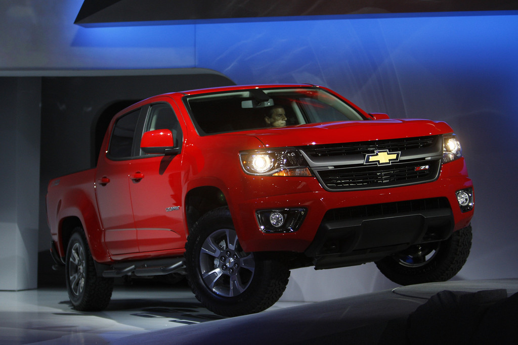 . The 2015 Chevrolet Colorado is shown during media preview days at the 2013 Los Angeles Auto Show on November 20, 2013 in Los Angeles, California. The LA Auto Show was founded in 1907 and is one of the largest with more than 20 world debuts expected. The show will be open to the public November 22 through December 1.  (Photo by David McNew/Getty Images)