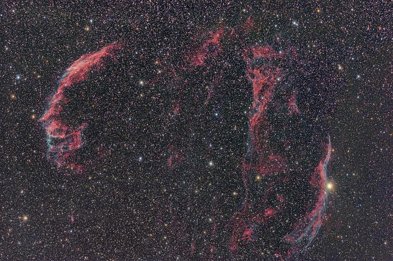NGC 6992, NGC 6995 & NGC 6960, Veil Nebula Complex