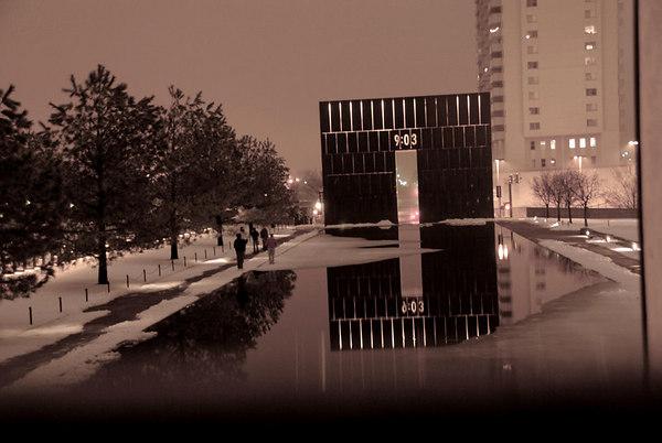 Winter at Oklahoma City National Memorial