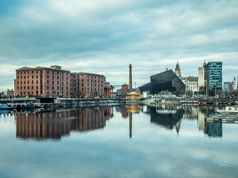 Liverpool Skyline Reflected, England