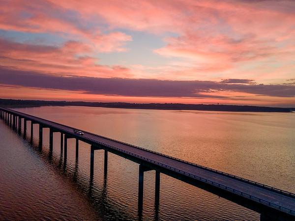 Lake Red Rock Mile Long Bridge