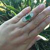 4.05ct Emerald and Old European Cut Diamond Ring 27