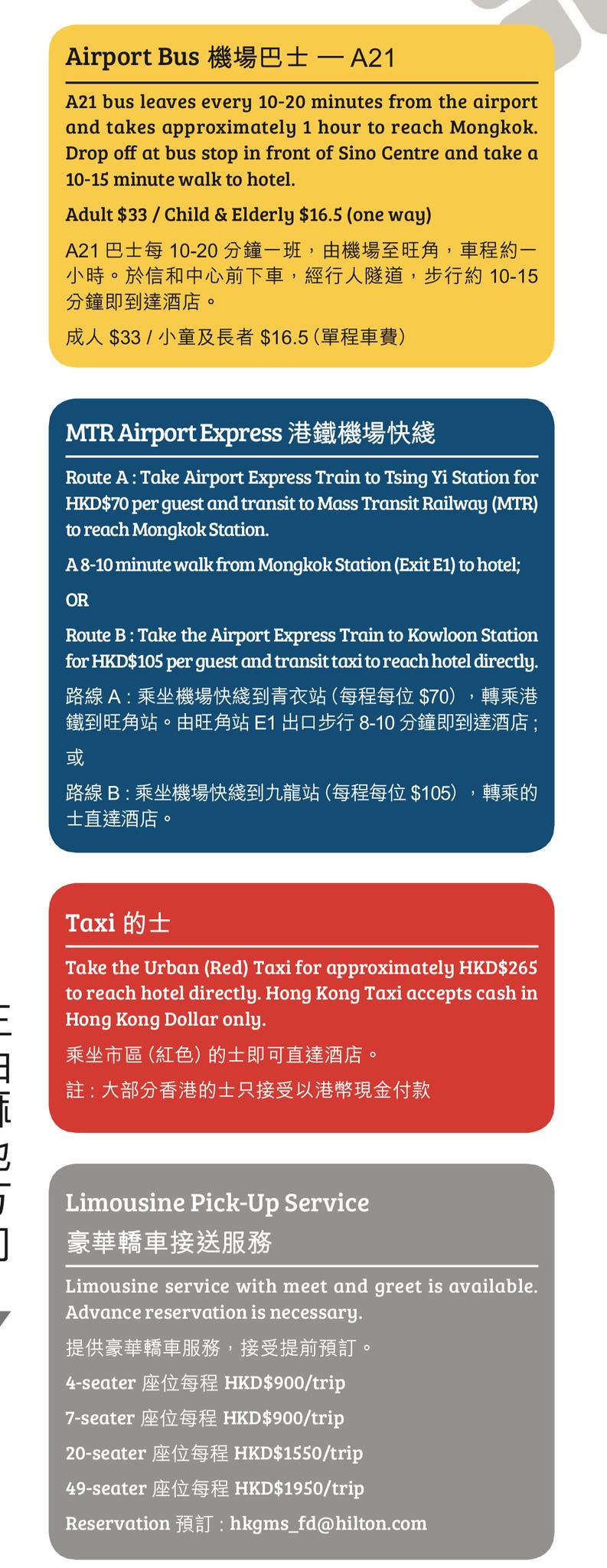 How to get to the Hilton Garden Inn Hong Kong Mongkok