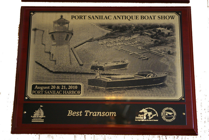 """Water Lily"" Best Transom at Port Sanilac, MI Boat Show"