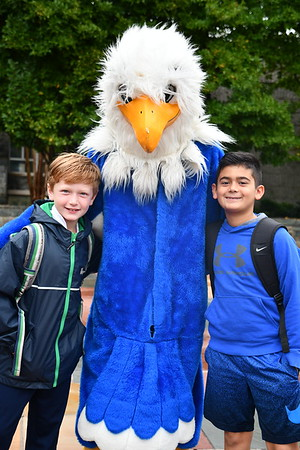 Spirit Day Fun with the Norwood Blue Hawk