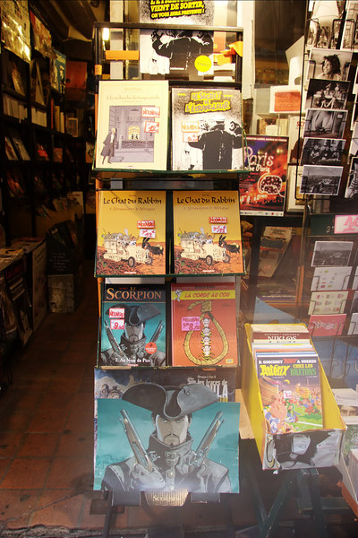 This store sells Tintin and Asterix comics.