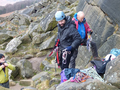 Climbing on Stag Weekend