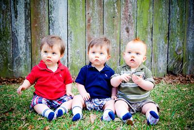 Jacob, Micah, and Noah--1 Year