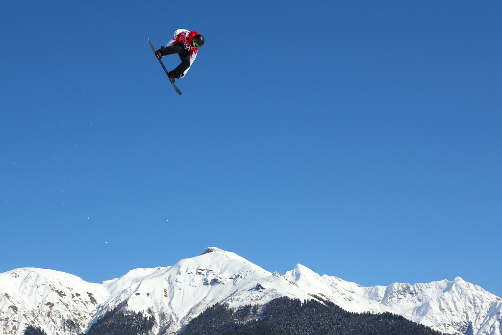 . Maxence Parrot of Canada competes in the Men\'s Slopestyle Qualification during the Sochi 2014 Winter Olympics at Rosa Khutor Extreme Park on February 6, 2014 in Sochi, Russia.  (Photo by Mike Ehrmann/Getty Images)