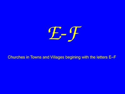 E–F Churches