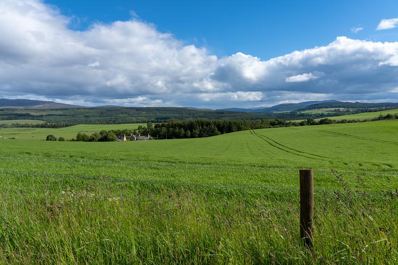 Farm land in Speyside, Scotland
