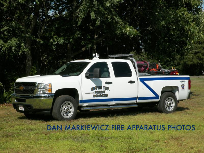 MIFFLIN TWP. FOREST RANGERS & FIRE CO. BRUSH 225 2013 CHEVY/SHORE BRUSH UNIT