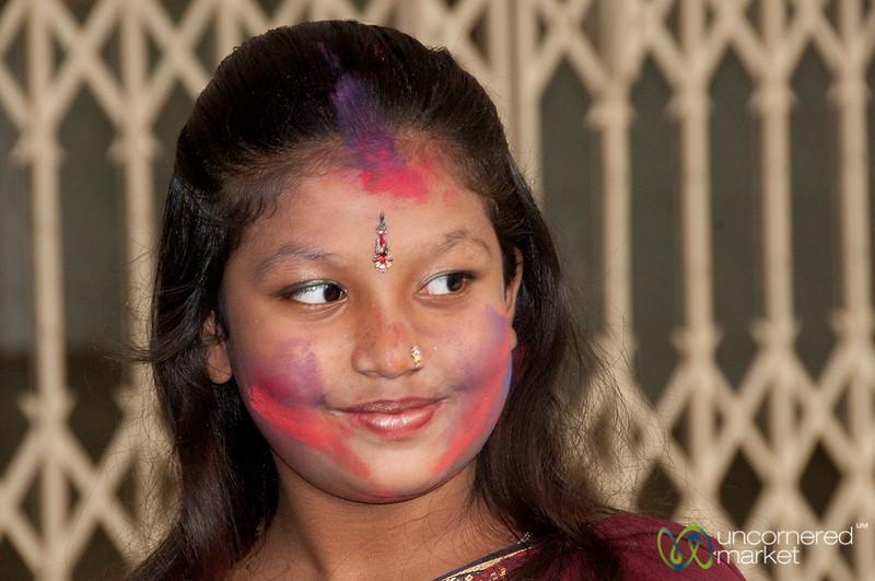Girl Gets into Holi Celebrations - Old Dhaka, Bangladesh