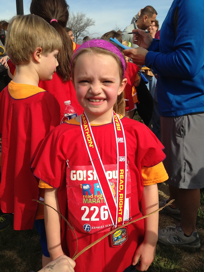 Amelia completed the Read, Right, and Run program, including a 1.2 mile run in Forest Park. Way to go!