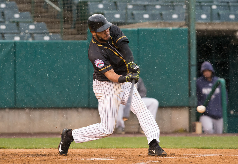 05/03/19  Wesley Bunnell | Staff  The New Britain Bees home opener vs the Somerset Patriots on Friday night at New Britain Stadium. Second baseman Jonathan Galvez (10).