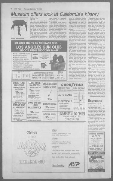 Daily Trojan, Vol. 113, No. 18, September 27, 1990