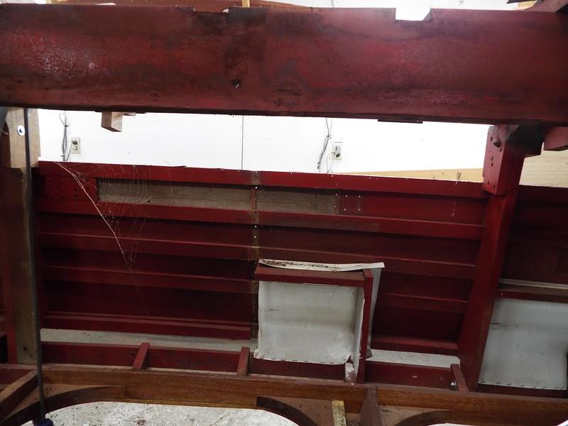 Starboard side frame removed.