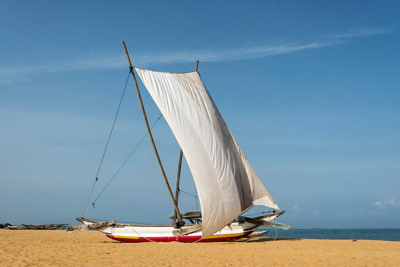 Catamaran Boat on Negombo Beach