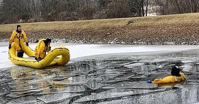 Ice Rescue Drill - Stone Hill Rd, Livonia, NY - 1/10/21