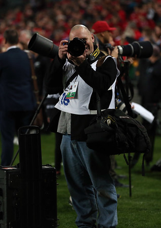 Dave Lintott doing what he does best ...take photos  of me during game 10 of the British and Irish Lions 2017 Tour of New Zealand, the third Test match between  The All Blacks and British and Irish Lions, Eden Park, Auckland, Saturday 8th July 2017during game 10 of the British and Irish Lions 2017 Tour of New Zealand, the third Test match between  The All Blacks and British and Irish Lions, Eden Park, Auckland, Saturday 8th July 2017 (Photo by Kevin Booth Steve Haag Sports)  Images for social media must have consent from Steve Haag