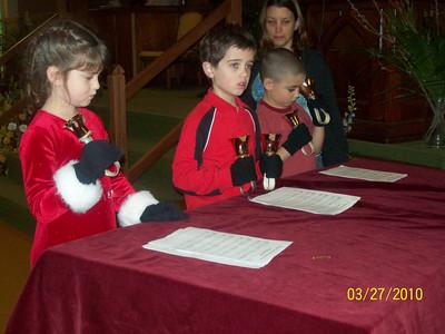 Children's Bell Choir March 2009