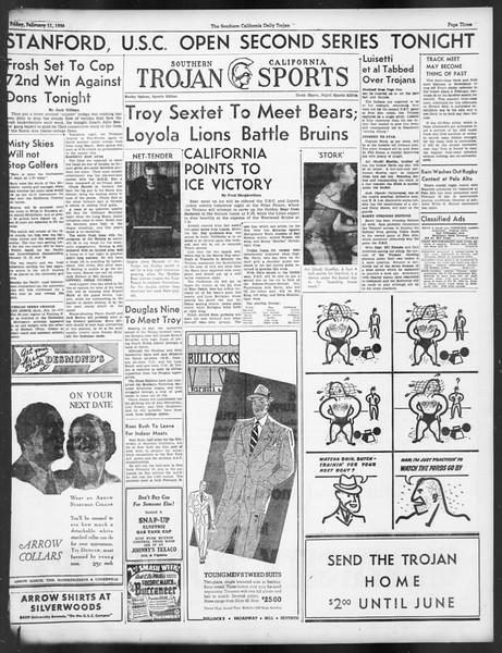 Daily Trojan, Vol. 29, No. 78, February 11, 1938