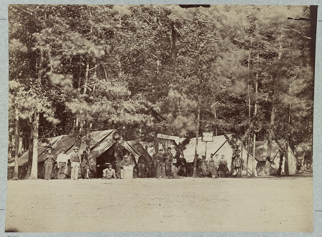 . U.S. Cristian (i.e. Christian) Commission at Gettysburg General Hospital, August, 1863  - Library of Congress Prints and Photographs Division Washington, D.C.