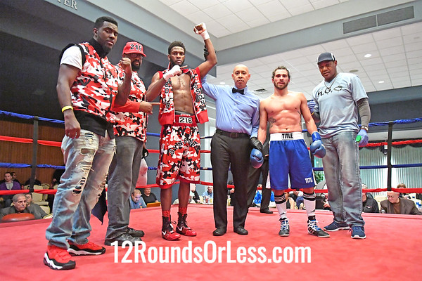 Pro-Bout 3 Fred Wilson, Jr, Red-Black-White Trunks, Cleveland -vs- Wes Hanson, Blue Trunks, West Virginia, Middleweights