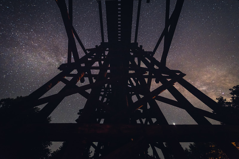 Temporal Road Trestle under the Stars (Waynesville, MO)