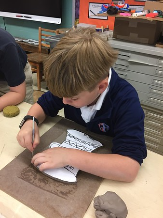 4th Grade - Dave the Potter,  Poetry Pottery