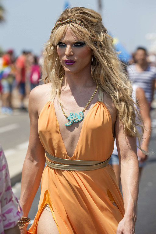 . A drag queen attends the annual gay pride parade in the Israeli coastal city of Tel Aviv on June 13, 2014. AFP PHOTO/JACK GUEZ/AFP/Getty Images