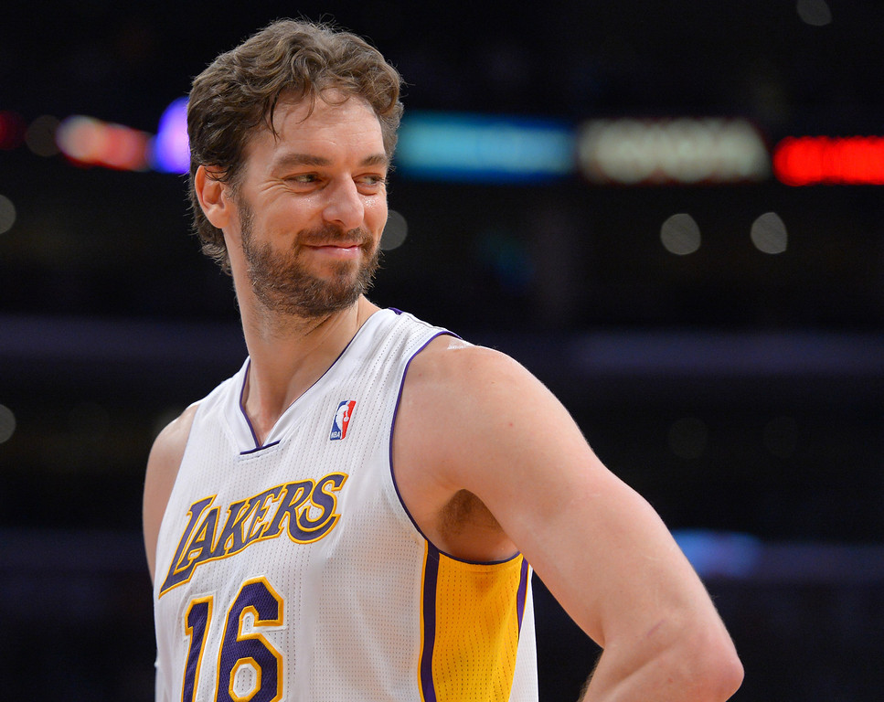 . <b>Pau Gasol</b>, center, averaged 17.4 points and 9.7 rebounds through 31.4 minutes in 60 games <br /><br /> <b> Outlook</b>: The Lakers and Gasol are both lukewarm about reuniting. The Lakers will not pay Gasol near the $19.3 million he made this season. Despite Gasol�s versatility, the Lakers also believe his best years are behind him. Gasol will not return if he fields offers from championship caliber teams and/or D�Antoni is retained. Still, Kobe Bryant�s support and Gasol�s affection for this franchise could ensure he has not expended his nine lives with the Lakers.  (Photo by Scott Varley, Daily Breeze)