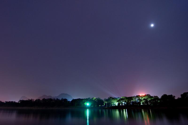 Moonrise over the Li River Guilin, China — April 2010