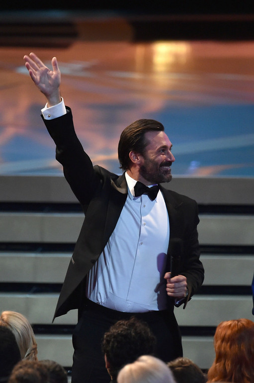 . Actor Jon Hamm in the audience at the 66th Annual Primetime Emmy Awards held at Nokia Theatre L.A. Live on August 25, 2014 in Los Angeles, California.  (Photo by Kevin Winter/Getty Images)