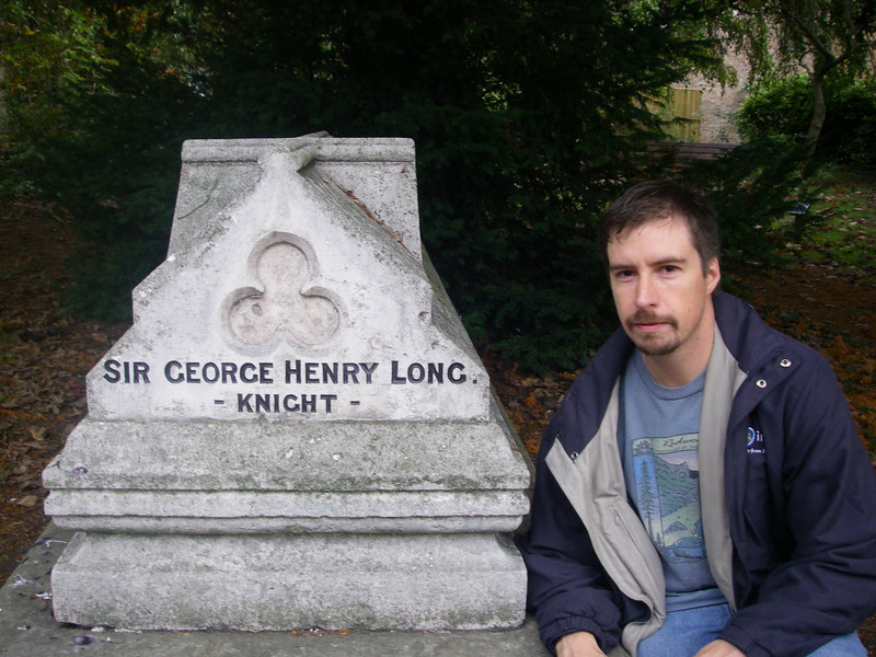 I'm not sure who Sir George Henry Long was, but he must be important, because he had a large memorial in a church right next to the castle...