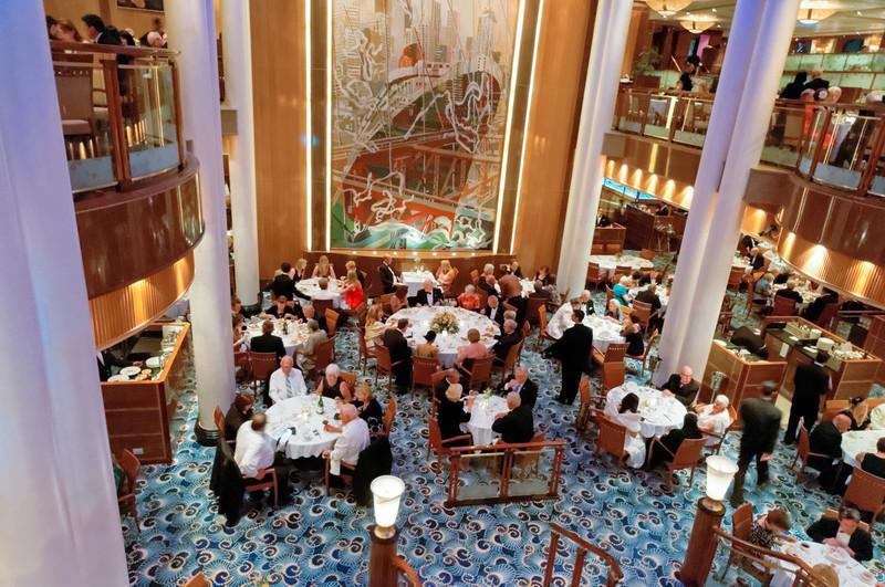 Das Britannia Restaurant. Hier haben wir meist gegessen.