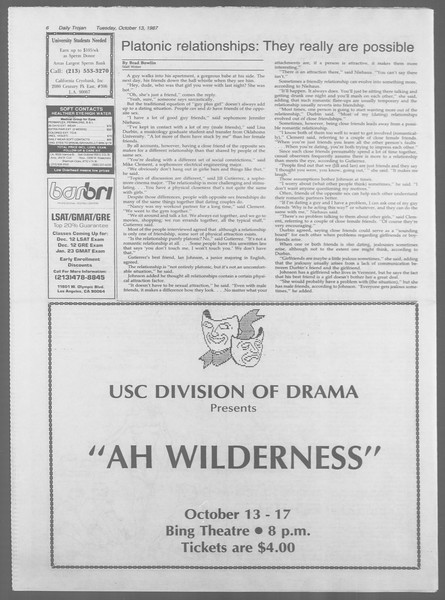 Daily Trojan, Vol. 105, No. 28, October 13, 1987
