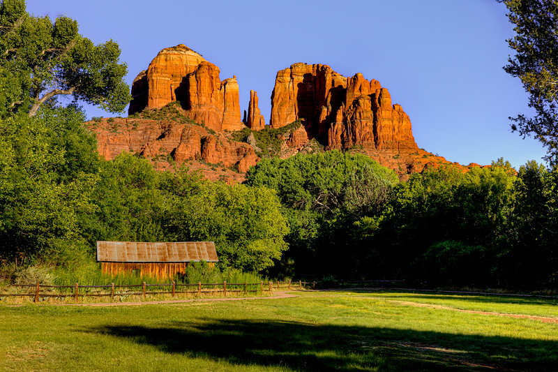 Crescent Moon Ranch view of Cathedral Rock