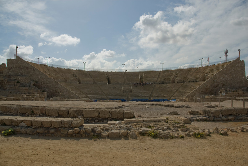 Ancient Roman amphitheater in Ceasaria, Israel
